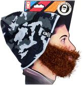 Camouflage & Brown Bushy Biker Beard Beanie