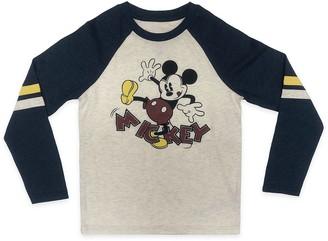 Disney Mickey Mouse Long Sleeve Baseball T-Shirt for Kids