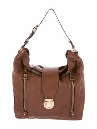 Marc Jacobs Grained Leather Hobo Brown