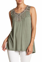Bobeau Embroidered Tank