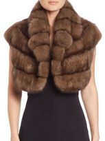 The Fur Salon Cropped Sable Fur Vest