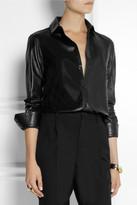 Saint Laurent Leather shirt