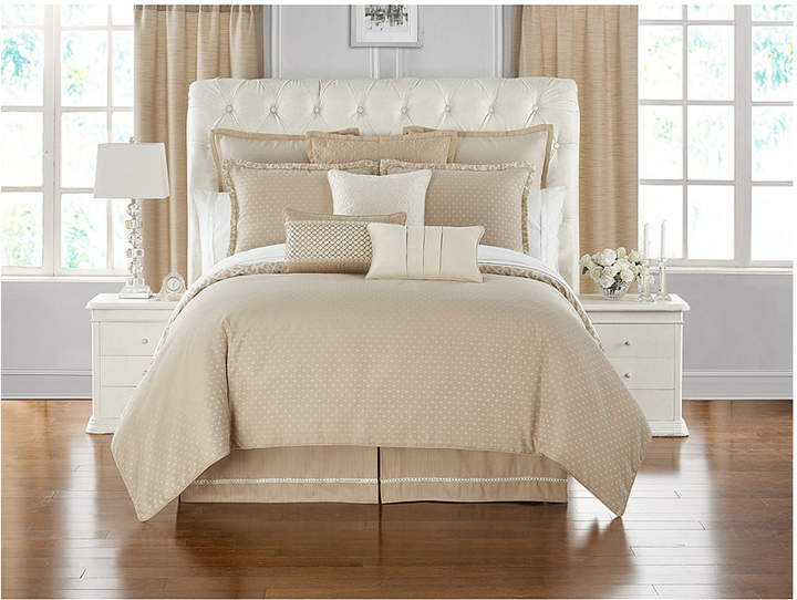 Waterford Charlize Reversible 3-Pc. Gold Queen Comforter Set