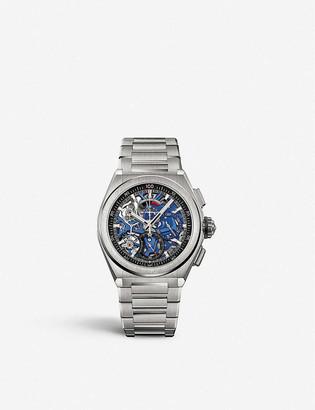 Zenith 95.9002.9004/78.M9000 Defy EI Primero 21 brushed titanium automatic watch
