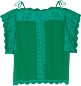 Etoile Isabel Marant Audrina embroidered chiffon top