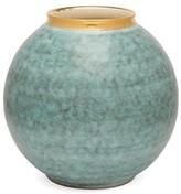AERIN Calinda 18kt Gold-rimmed Ceramic Vase - Blue