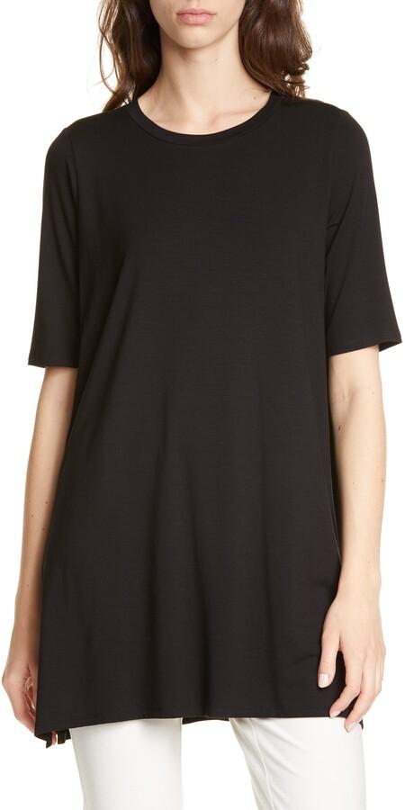 cc7f82c9581 Eileen Fisher Black Women's Tunics - ShopStyle