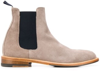 Scarosso Chelsea colour-block boots