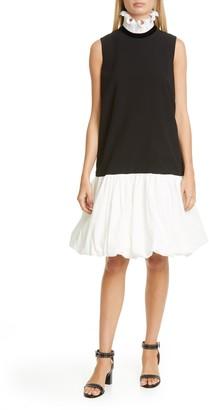 Givenchy Frill Collar Balloon Hem Shift Dress
