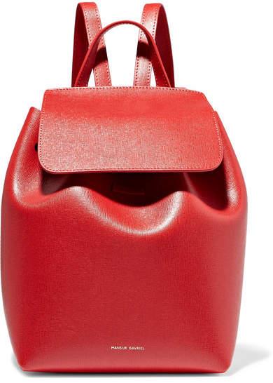 Mansur Gavriel Mini Textured-leather Backpack