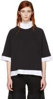MM6 MAISON MARGIELA Black Mock Layered Sweatshirt