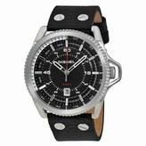 Diesel Rollcage Black Dial Black Leather Men's Watch DZ1790