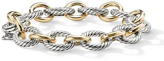 David Yurman Chain Sterling Silver & 18K Yellow Gold Link Bracelet