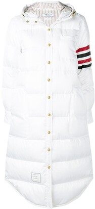 Thom Browne 4-Bar-stripe hooded parka