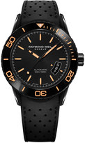 Raymond Weil Men's Swiss Automatic Freelancer Black Rubber Strap Watch 43mm 2760-SB2-20001