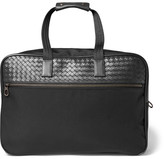 Bottega Veneta Intrecciato Leather and Canvas Duffle Bag with Wheels