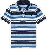 Ralph Lauren Striped Jersey Knit Polo Shirt, Blue