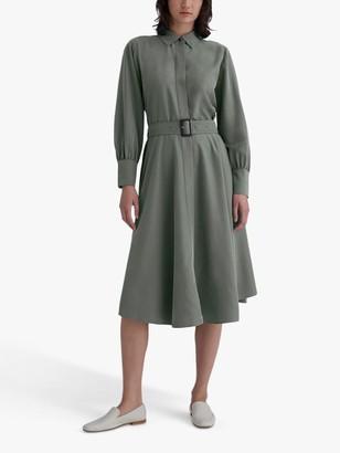 Club Monaco Curved Hem Shirt Dress, Grey