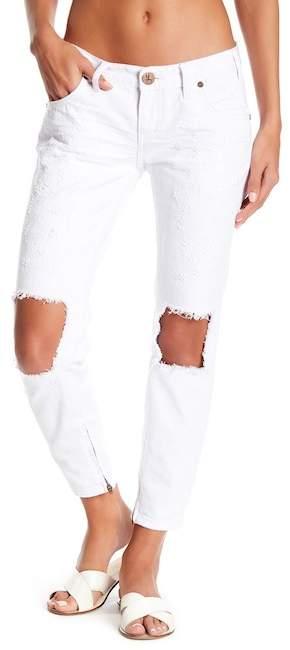 One Teaspoon White Beauty Freebird Distressed Jeans