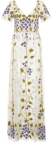 Luisa Beccaria Cornely Violet Embroidered Tulle Dress