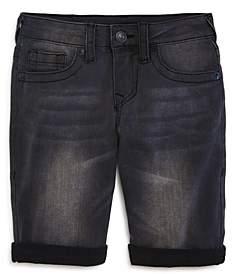 True Religion Boys' Geno Cuffed Denim Shorts - Little Kid, Big Kid