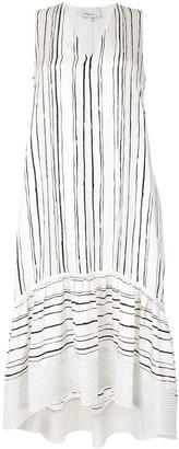 3.1 Phillip Lim Sl Painted Stripe Dress W High-Low Hem