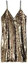 H&M Sequined Dress - Gold-colored - Ladies