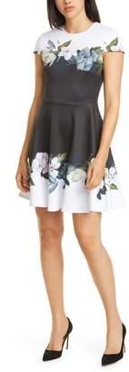 Ted Baker Louva Opal Floral Print Skater Dress