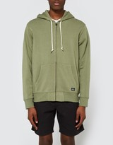 Obey Lofty Comforts Zip Hood in Light Army