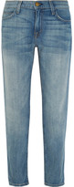Current/Elliott The Fling Mid-rise Slim Boyfriend Jeans - Light denim