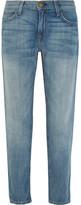 Current/Elliott The Fling Mid-rise Slim Boyfriend Jeans - Light denim