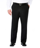 Haggar Big & Tall Suit Separates Pant - Heather Pinstripe - Straight Fit