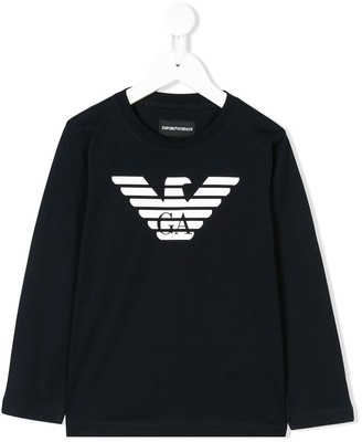 Emporio Armani Kids logo-print long-sleeve T-shirt