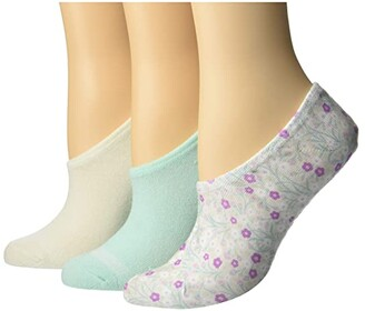 Converse Made For Chucks Mayflower Print 3-Pair Pack (Natural Assorted) Women's Crew Cut Socks Shoes