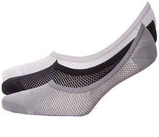 S.O.H.O New York Womens Collection Three Pack AOP Mesh Footsies Grey Mix