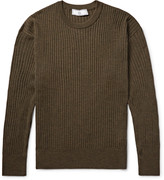 Ami - Ribbed Mélange Merino Wool Sweater