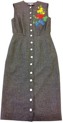 Olympia Le-Tan Olympia Le Tan Grey Wool Dresses