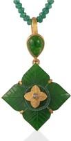 Emma Chapman Jewels Toyah Aventurine Diamond Pendant