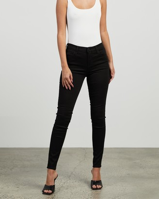 J Brand Women's Black Skinny - Sophia Mid-Rise Super Skinny Jeans - Size 26 at The Iconic