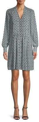 Diane von Furstenberg Printed Split-Neck Dress