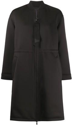 Emporio Armani zipped midi coat