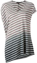 Unconditional striped asymmetric T-shirt