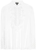 Giambattista Valli Lace-embellished Silk Shirt