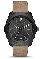Diesel Machinus NSBB Analog Leather-Strap Watch