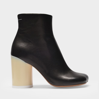 MM6 MAISON MARGIELA Ankle Boots In Black Soft Leather