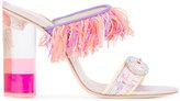 Sophia Webster Darla fringe sandals - women - Leather/Acrylic/Metallized Polyamide - 37