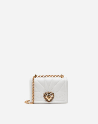 Dolce & Gabbana Small Devotion Crossbody Bag In Quilted Nappa Leather