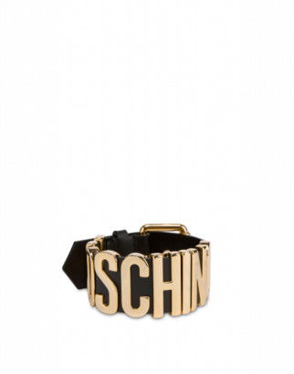 Moschino Calfskin Bracelet With Buckle And Logo