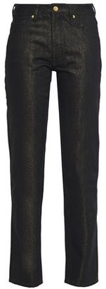 Victoria Victoria Beckham Victoria, Victoria Beckham Metallic Low-rise Straight-leg Jeans