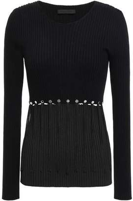 Alexander Wang Convertible Ribbed Cotton Sweater